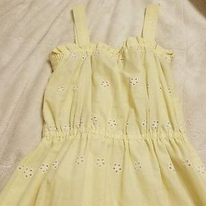 Vintage Handmade Yellow eyelet dress